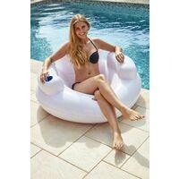 Fauteuil gonflable pour piscine avec porte-gobelet Kerlis