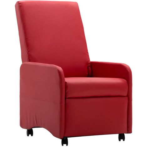 Fauteuil Inclinable Rouge Similicuir