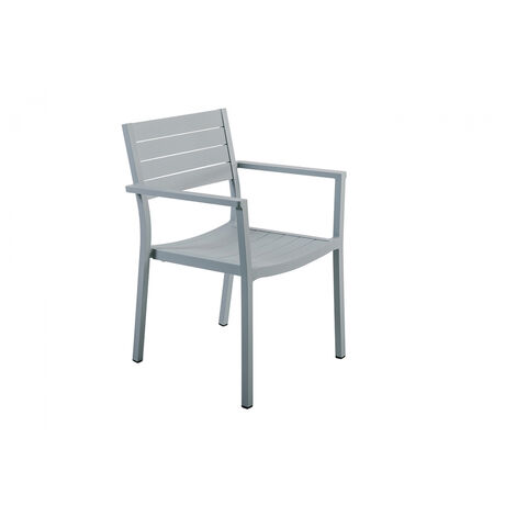 fauteuil jardin alu empilable gris clair