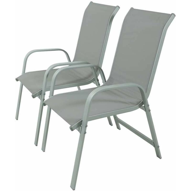 chaise de jardin textilene cadre aluminium