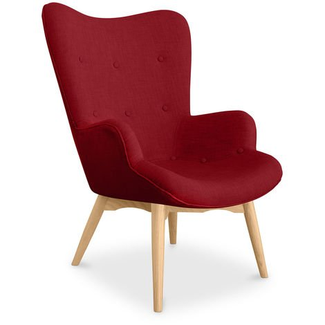 Fauteuil Kontor Lounge Chair - Design Scandinave Rouge