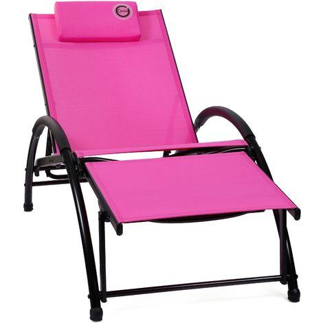 Fauteuil Relax Pliable Et Confortable Rose Structure lK1Jc3FT