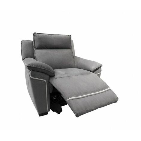 Fauteuil relaxation gris motorisé - Lucia - gris