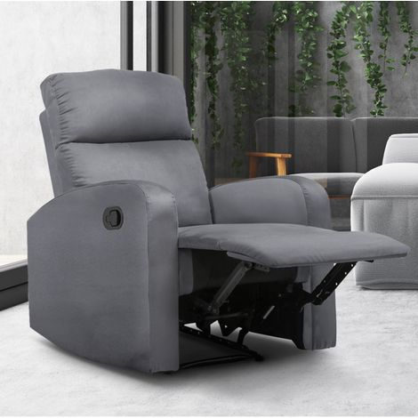 Fauteuil relaxation inclinable gris anthracite