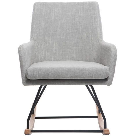 Fauteuil rocking chair design tissu SHANA