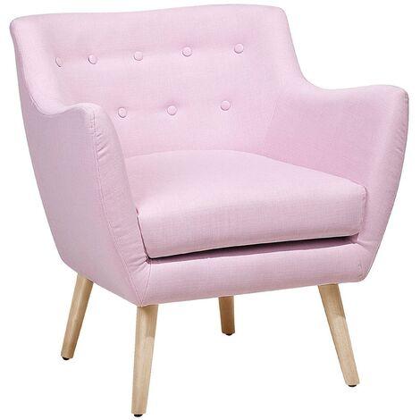 Fauteuil rose pastel style Scandinave DRAMMEN