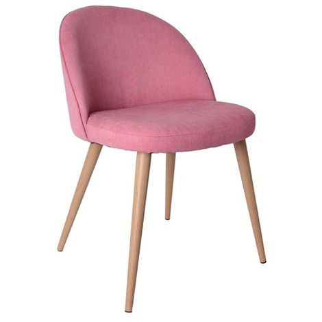 Fauteuil rose style scandinave vintage