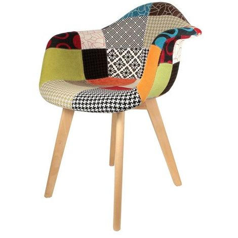 Fauteuil scandinave Patchwork The Home Deco Factory