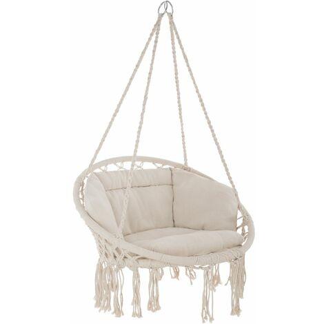 Fauteuil suspendu ELISA hamac meuble jardin diamètre 80 cm beige - Beige