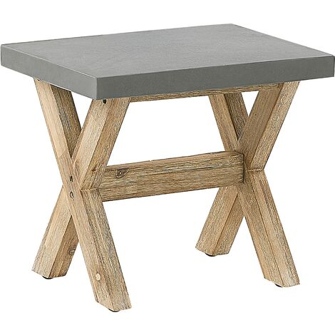 Faux Concrete Garden Stool Grey OLBIA