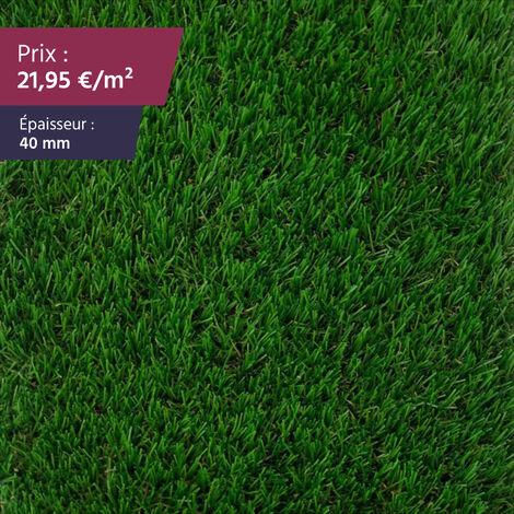 """Faux gazon Gazon synthétique haut de gamme gazon artificiel pelouse synthétique pelouse artificielle   Épaisseur : 40 mm   Largeur : 4m   Collection """"India"""""""