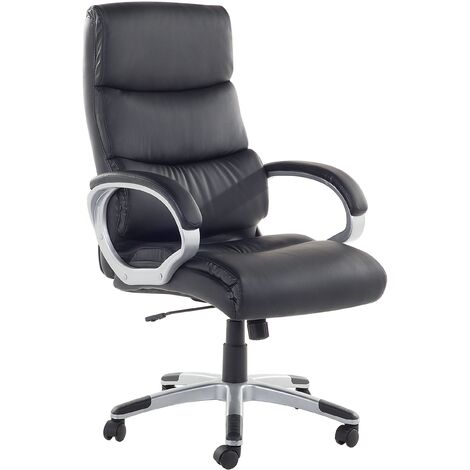 Faux Leather Executive Chair Black KING