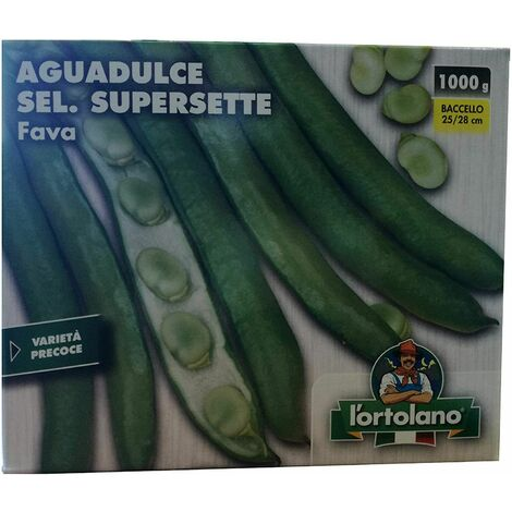 Fava fave aguadulce sel supersette 1000g 1kg baccello 25/28 cm varieta' precoce