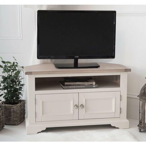 Faversham Corner TV Cabinet In Old White