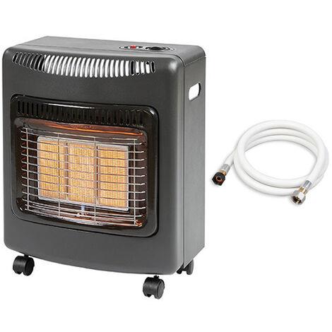 Favex - Chauffage d'appoint à gaz Ektor Mini - Livré avec tuyau à visser - Intérieur - Brûleur Céramique Infrarouge - 3 Puissances de Chauffe -jusqu'à 40 m² - Noir