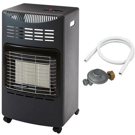 """main image of """"Favex - Chauffage d'appoint à gaz Visby - Prêt à l'emploi livré avec tuyau et détendeur - Intérieur - Brûleur Céramique Infrarouge - 3 Puissances de Chauffe -jusqu'à 40 m² - Noir"""""""