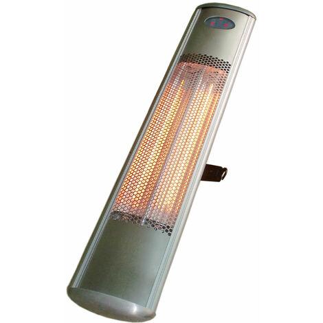 FAVEX - Chauffage Electrique Granriva- Extérieur ou intérieur - Structure Inox brossé - 2 positions de chauffe de 900 Watts - 97 x 20 x 6 cm