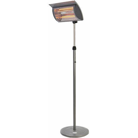 Favex - Chauffage électrique Vérone - Extérieur - Acier Noir - 2 puissances de chauffe - Taille ajustable 160 - 194 cm - housse incluse