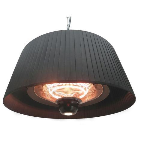 FAVEX - Chauffage Sirmione Suspendu Noir - Electrique - Extérieur - 8 m²