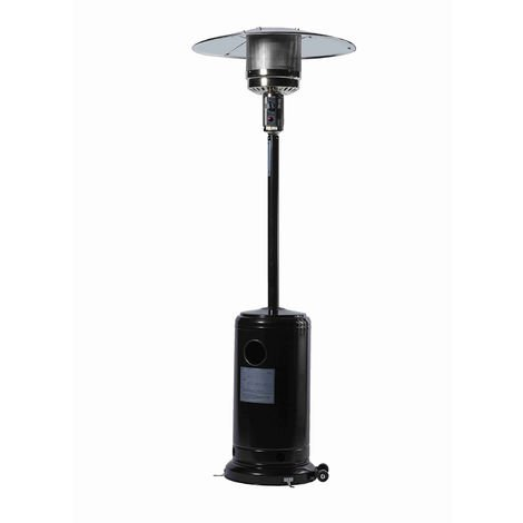 Favex - Parasol chauffant Sun Classic Noir - Extérieur - Prêt à l'emploi livré avec tuyau et détendeur - 5 à 13 Kw - 15m² - 81 x 81 x 225 cm
