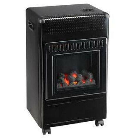 Favex Recommandé par Butagaz -Ektor Fire -3400 Watts -Chauffage d'appoint gaz Butane -Infrableu - Flammes apparentes - 3 puissances