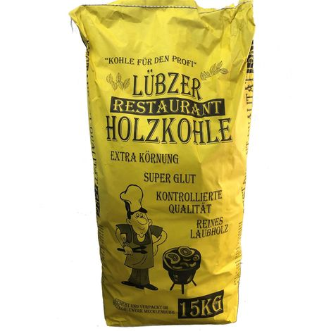 Favorit Lübzer Restaurant Holzkohle, Grillkohle, Gastro Kohle 15 Kg. Sack