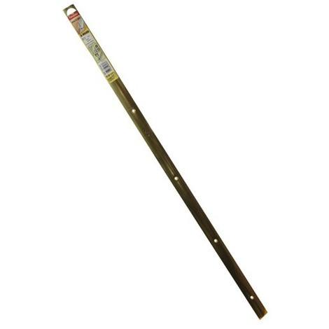 FAVOTEX - Bande de seuil percée - acier laitonné - 30 mm x 83 cm