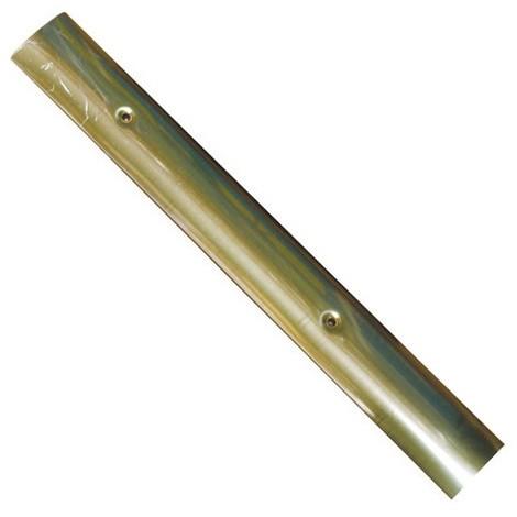 FAVOTEX - Bande de seuil percée - acier laitonné - 45 mm x 93 cm