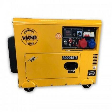 FBI Groupe électrogène diesel 8kva triphasé et monophasé FBI Wagner KW8000SE-T - Orange