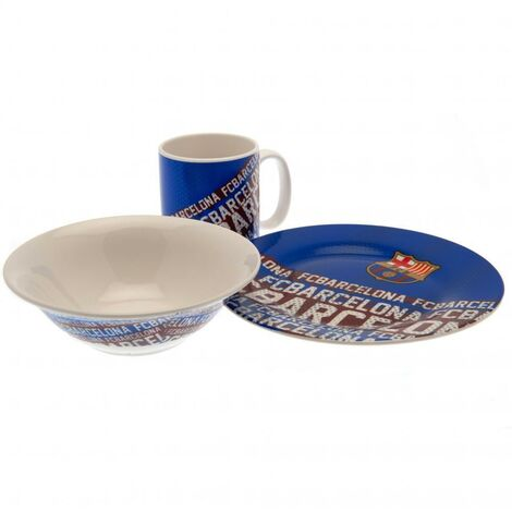 FC Barcelona Breakfast Set (Pack of 3) (One Size) (White/Blue)
