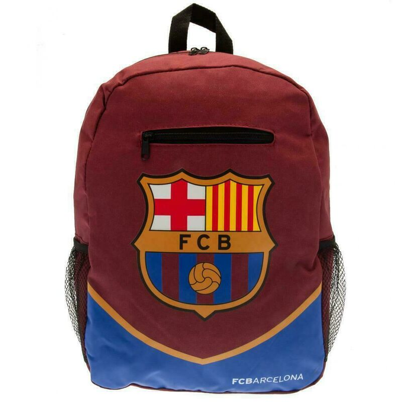 Image of FC Barcelona Crest Backpack (One Size) (Maroon/Blue)