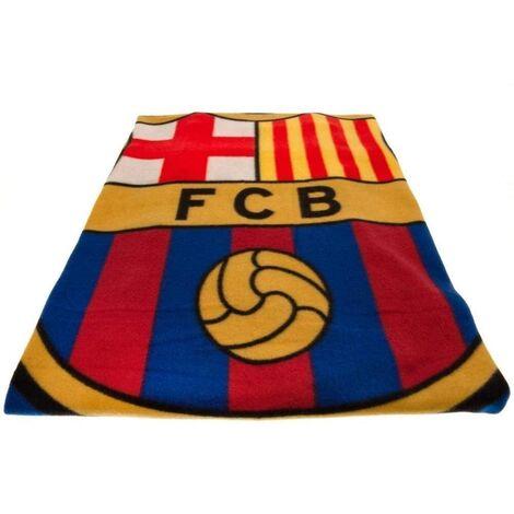 FC Barcelona Pulse Fleece Blanket (Single) (Multicoloured)