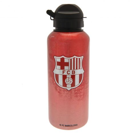 FC Barcelona Simple Crest Drinks Bottle (One Size) (Red)