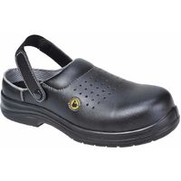 FC03 ESD Perforated Black Safety Clogs
