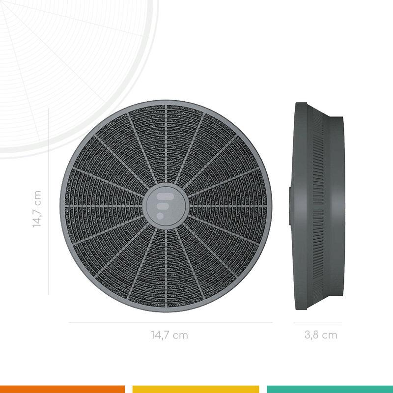 FC05 - Filtre de hotte à charbon actif compatible Candy CBT 6240