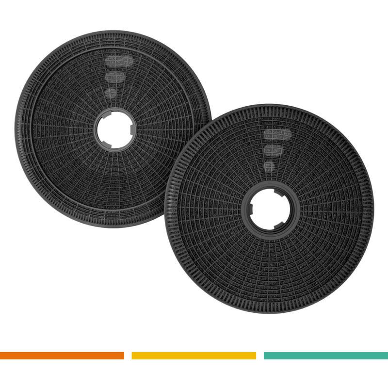 FC21 - filtre à charbon compatible Groupe filtrant AHF58WH AHF58IX AHF58BK - Airlux