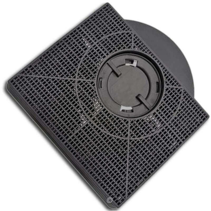 Filtre charbon rectangulaire FAT303 type 303 (à l'unité) (46581-1881) (AMC895 CHF303) Hotte WHIRLPOOL, IKEA WHIRLPOOL, SCHOLTES, FAGOR, FAURE,
