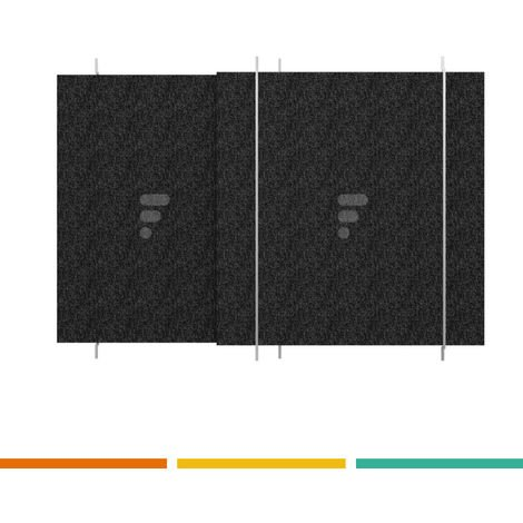 FC34 - Filtre de hotte au charbon actif compatible hotte plan de travail
