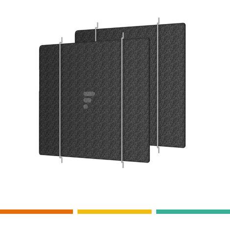 Charbon Actif-Filtre Rectangulaire pour Tefal Compact Quadra 700 Universalis 800
