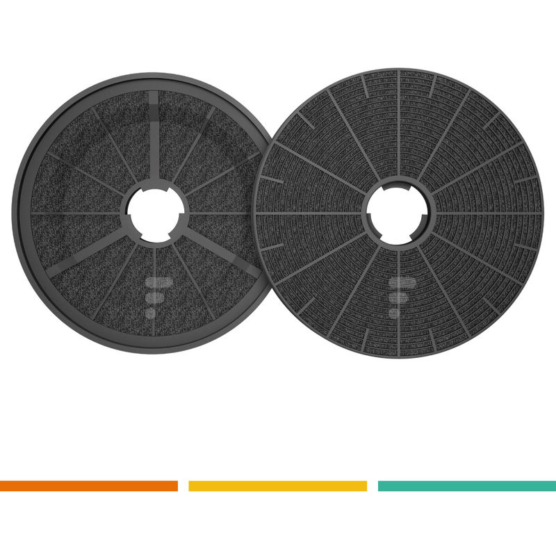 FC90 - filtre à charbon compatible Hotte decorative murale RVSD9800PN - Rosieres