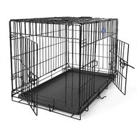 "FEANDREA 30"" Dog Cage Crate Black Foldable Transport Wire  Pet Carrier Transport Box by SONGMICS PPD30H"
