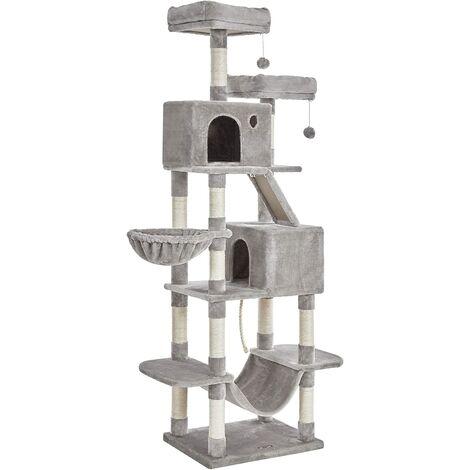 FEANDREA Árbol de gatos alto, Torre de 206 cm, Gris Claro por SONGMICS PCT190W01 - Gris Claro