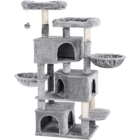 FEANDREA Árbol Grande para Gatos con 3 Cuevas para Gatos, Torre para Gatos de 164 cm