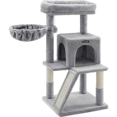 FEANDREA Árbol para Gatos, Rascador para Gatos, Torre para Gatos, Gris Claro por SONGMICS PCT51W