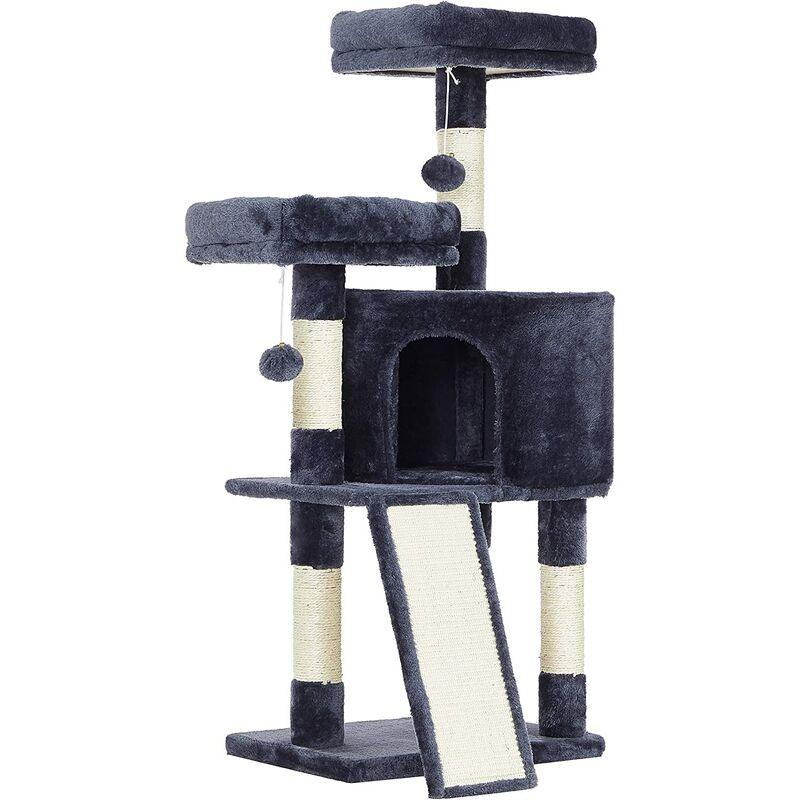 FEANDREA Arbre à chat, Tour poteaux à gratter 115 cm, Gris Anthracite par SONGMICS PCT141G01 - Gris anthracite