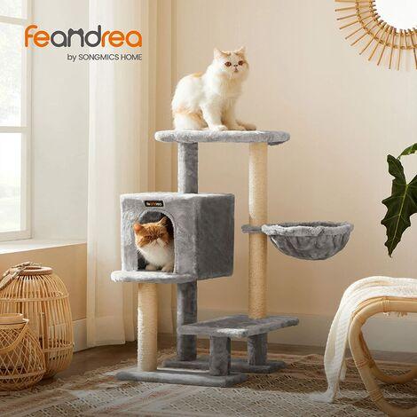 FEANDREA Arbre à chat, Tour poteaux à gratter 84 cm, Gris Anthracite par SONGMICS PCT142G01 - Gris anthracite