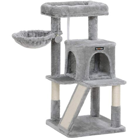 FEANDREA Cat Tree, Cat Tower, Cat Condo, Scratching Board, Light Grey by SONGMICS PCT51W