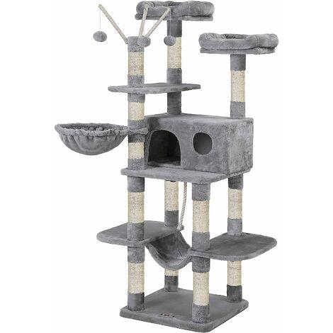 FEANDREA Cat Tree, XXL Cat Condo, 164 cm, Smoky Grey/Light Grey by SONGMICS