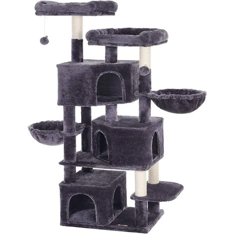 FEANDREA Large Cat Tree with 3 Cat Caves, 164 cm Cat Tower