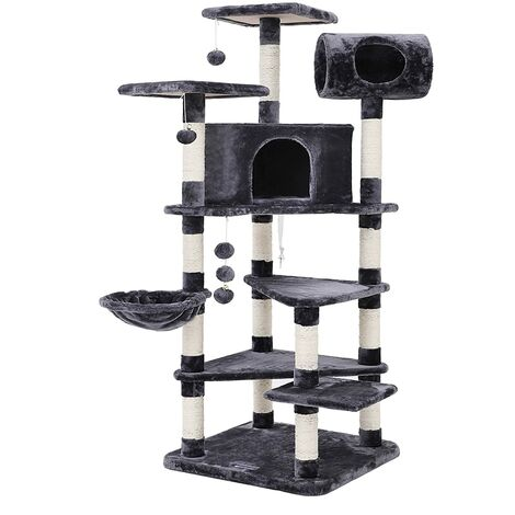 FEANDREA Multi-level Large Cat Tree Cat Furniture Cat Play